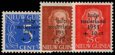 Netherlands New Guinea 1953 Flood Relief lightly mounted mint.