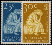 Netherlands New Guinea 1960 World Refugee Year unmounted mint.