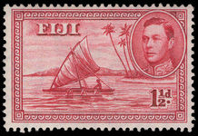 Fiji 1938-55 1½d Canoe perf 14 die II lightly mounted mint.