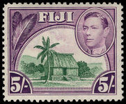 Fiji 1938-55 5s Chief's hut lightly mounted mint.