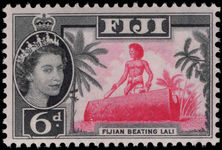 Fiji 1962-67 6d drumming unmounted mint.