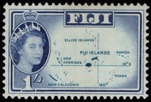 Fiji 1962-67 1s Location Map unmounted mint.