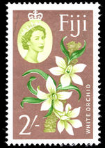 Fiji 1962-67 2s White Orchid unmounted mint.