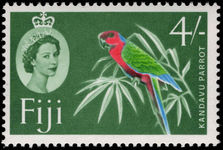 Fiji 1962-67 4s Red Shining Parrot, green background unmounted mint.