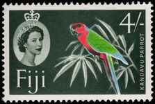 Fiji 1962-67 4s Red Shining Parrot, slate-green background unmounted mint.