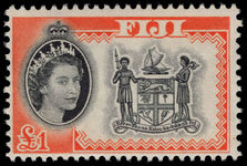 Fiji 1962-67 £1 Arms unmounted mint.