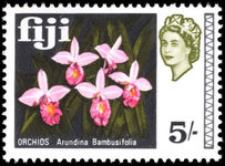 Fiji 1968 5s Bamboo Orchids unmounted mint.