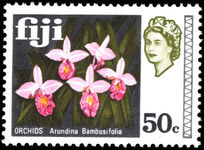 Fiji 1969 50c Bamboo Orchids unmounted mint.