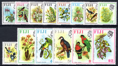 Fiji 1975-77 Birds and Plants set unmounted mint.