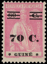 Portuguese Guinea 1931-33 70c on 80c provisional lightly mounted mint.