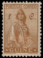 Portuguese Guinea 1933 1c Ceres lightly mounted mint.