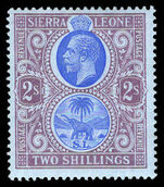 Sierra Leone 1912-21 2s blue and purple on blue mounted mint.