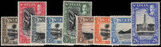 St Lucia 1936 set from 1d to 2s6d lightly mounted mint.