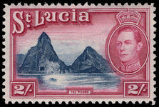 St Lucia 1938-48 2s blue and purple lightly mounted mint.