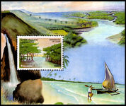 Tanzania 2003 Waterfalls and Landscapes souvenir sheet unmounted mint.