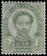Thailand 1887-91 1a green lightly mounted mint.
