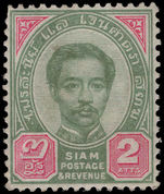 Thailand 1887-91 2a green and carmine unmounted mint.