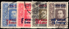 Thailand 1914-15 provisional set fine used.