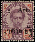 Thailand 1894 2a on 64a purple and brown T33 lightly mounted mint.