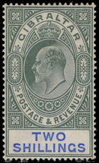 Gibraltar 1904-08 2s green and blue lightly mounted mint.