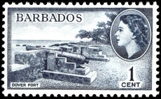 Barbados 1964-65 1c Dover Fort wmk 12 unmounted mint.