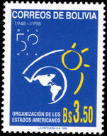 Bolivia 1998 Organization of American States unmounted mint.
