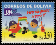 Bolivia 1999 Anti-drugs Campaign unmounted mint.