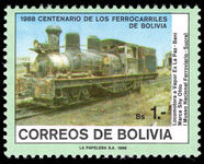 Bolivia 1988 Bolivian Railways unmounted mint.