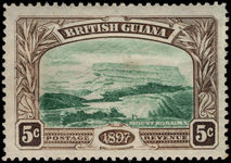 British Guiana 1898 5c deep green and sepia lightly mounted mint.