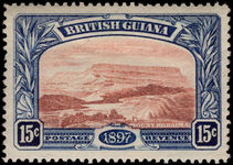British Guiana 1898 15c red-brown and blue lightly mounted mint.