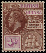 British Guiana 1913-21 4c brown and bright purple MCA lightly mounted mint.