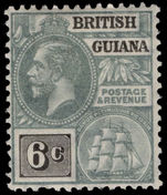 British Guiana 1913-21 6c grey and black MCA lightly mounted mint.
