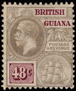 British Guiana 1913-21 48c grey and purple-brown MCA lightly mounted mint.