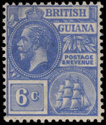 British Guiana 1921-27 6c bright blue MSCA lightly mounted mint.