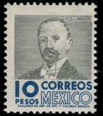 Mexico 1962-75 10p Madero ordinary paper wmk multi MEX-MEX photogravure unmounted mint.