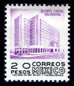 Mexico 1962-75 20p violet and black ord. paper wmk MEX-MEX ummounted mint.