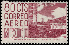 Mexico 1962-75 80c University City (37x21½mm) ordinary paper perf 11½x11 wmk multi MEX-MEX photogravure unmounted mint.