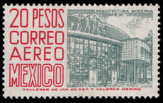 Mexico 1962-75 20p greenish-grey and scarlet MEX-MEX ordinary paper unmounted mint.