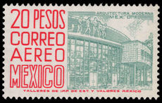 Mexico 1962-75 20p greenish-grey and scarlet MEX-MEX fluorescent paper unmounted mint.