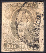 Mexico 1856 2r grey-black with district name fine used.
