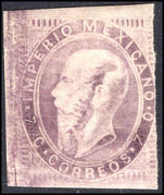 Mexico 1866-67 7c lilac-purple recess no overprint mounted mint.