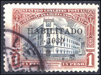 Mexico 1930 1p Mexico City Post Office Habilitado 1930 fine used.
