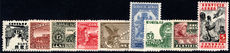 Mexico 1934-36 Airmail set wmk MEXICOCORREOS mounted mint.