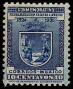 Mexico 1935 10c Chiapas wmk MEXICOCORREOS mounted mint.