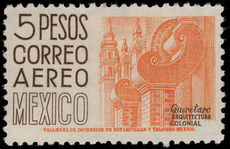 Mexico 1954-61 5p orange-buff and chocolate perf 10½ wmk 230 unmounted mint.