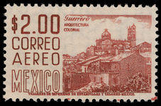 Mexico 1953-73 2p chestnut perf 11 recess, MEX-MEX unmounted mint.
