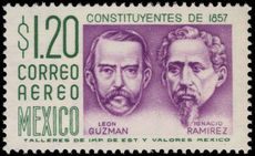 Mexico 1956-68 1p20 Constitution white fluorescent paper ummounted mint.