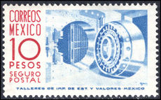 Mexico 1953-76 10p violet-blue and carmine insured letter wmk MEX-MEX ummounted mint.