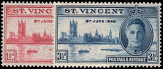 St Vincent 1946 Victory unmounted mint.