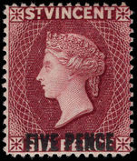 St Vincent 1893-94 5d on 6d lake lightly mounted mint.